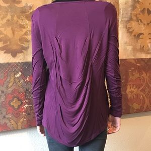 NWOT BCBG Max Azria knit top with draped back.